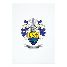 #name - #McPherson Family Crest Coat of Arms Card