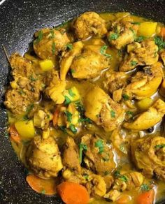 Jamaican Cuisine, Jamaican Dishes, Jamaican Recipes, Curry Recipes, Asian Recipes, Jamaican Steamed Cabbage Recipe, Jamaican Curry Chicken, Caribbean Curry Chicken, Jamaican Fried Chicken Recipe