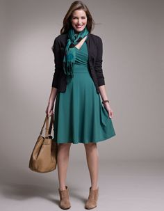 Pepperberry perfectly Simple Wrap Jersey Dress.  Love that teal color