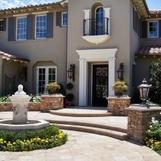Gray Home Front Exterior