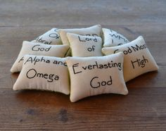 Names of God Decorative Pillows  Religious by RyensMarketplace, $28.00