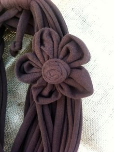 different kind of fabric flower
