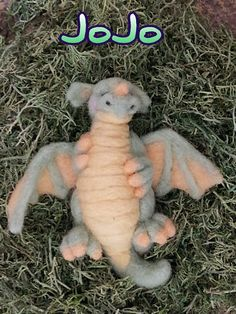Needle Felted Sculpted Dragon