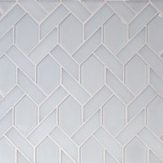 The Tile District - Astoria Elongated Hexagon in a White Glass Mosaic at Tango Tile