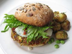 veggie burger recipes - lots to choose from and a make your own recipe formula too. Real Food Recipes, Vegetarian Recipes, Healthy Recipes, Vegetarian Bacon, Vegetarian Restaurants, Healthy Tuna, Healthy Eating, Eating Vegan, Burger Recipes