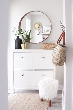 from House of Hire, A Kid Friendly Home from House of Hire, A Kid Friendly Home from House of Hire, boho living room Easy Shoe Cabinet Ikea Hack for a Narrow Entryway Home Entrance Decor, House Entrance, Entryway Decor, Bedroom Decor, Apartment Entryway, Entryway Ideas, Small Entrance, Hallway Furniture, Home Decoration