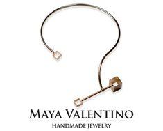 14K Gold necklace Silver necklace Rose gold by MayaValentino