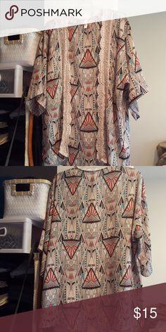 Selling this Quarter Sleeve Kimono on Poshmark! My username is: atuskey14. #shopmycloset #poshmark #fashion #shopping #style #forsale #Xhilaration #Tops