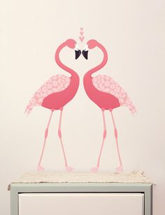 Create an enchanting scene with these exquisite fabric wallstickers.These gorgeous Pink Flamingos look great in a girls bedroom. With a funky retro feel these captivating stickers are infinitely adaptable as well as reusable, removable and even washable. Designed with children in mind, charming whimsical designs offer a speedy style solution to update walls, ceilings or furniture (or just about anything!) See sheet layout for exactly what you will receive.