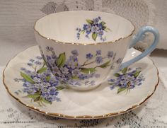 Vintage English SHELLEY Fine Bone China Tea Cup & by CupsAndRoses