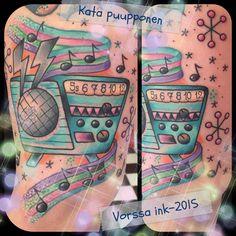 https://www.facebook.com/VorssaInk/, http://tattoosbykata.blogspot.com, #tattoo #tatuointi #katapuupponen#vorssaink #forssa #finland #traditionaltattoo #suomi #oldschool #pinup #retro #radio