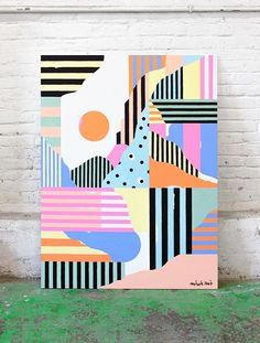 By from Lili studio Art And Illustration, Illustrations, Modern Art, Contemporary Art, Posca Art, Art Model, Geometric Art, Diy Art, Art Inspo