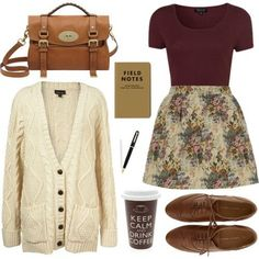 moda · outfit · look · otoño Look Retro, Look Vintage, Vintage Winter, Polyvore Outfits, Fall Winter Outfits, Autumn Winter Fashion, Autumn Fall, Hipster Outfits Winter, Vintage Hipster Outfits