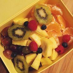 Fruitsalad for school ❤️ #Padgram