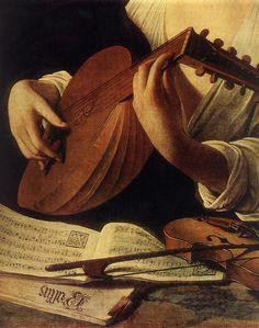 Luit - The Lute Player (detail), by Caravaggio] Renaissance Music, Renaissance Kunst, Renaissance Paintings, Caravaggio, Italian Painters, Italian Artist, Michelangelo, Baroque Painting, Chiaroscuro