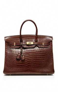 Hermes 35cm havane porosus crocodile birkin by HERITAGE AUCTIONS SPECIAL  COLLECTION for Preorder on Moda Operandi f07647c5055