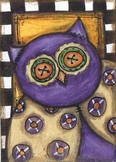 whimsical owl by Cristal Wooten