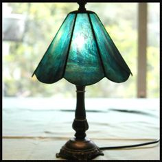 Stained glass lamp BLUE