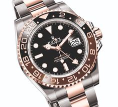 Incredible two-tone look. Rolex GMT-Master II 'Root Beer' In Rolesor. Dream Watches, Sport Watches, Luxury Watches, Cool Watches, Rolex Watches, Watches For Men, Rolex Gmt Master, Swiss Army Watches, Beautiful Watches