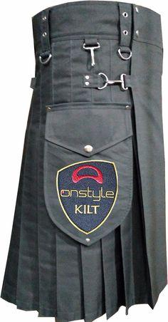 Onstyle New Fashion Khaki Cotton Kilt. Sport Fashion, Mens Fashion, Fashion Outfits, Grey Fashion, Couture, Scotland Kilt, Scottish Warrior, Utility Kilt, Man Skirt