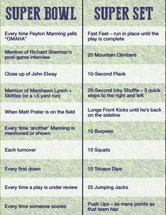 Just because the big game is on tomorrow, doesn't mean you can't get your workout in! Try this fun way!