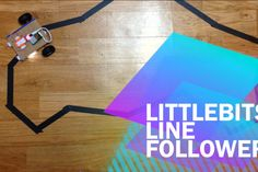 The Line Follower is made of littleBits and cardboard. No micro controller, no programming language. Only littleBits and paper!