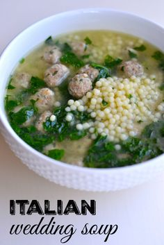 I combined elements from several different Italian Wedding Soup recipes to create our all-time favorite version! I combined elements from several different Italian Wedding Soup recipes to create our all-time favorite version! Italian Wedding Soup Recipe, Wedding Soup Meatball Recipe, Wedding Recipe, Cooking Recipes, Healthy Recipes, Easy Recipes, Beef Recipes, Cooking Games, Vegetarian Recipes