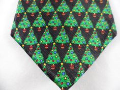 Dillard's Christmas Tree Silk Necktie Made In The U.S.A. If You Should Encounter Any Issues With Your Order. | eBay!