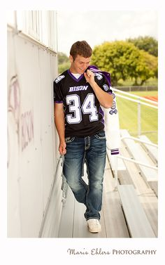 For me, the most important thing when photographing seniors in my area is to make sure that their sessions not only reflect them, but are di. Senior Football Photography, Football Senior Photos, Football Poses, Football Pictures, Senior Photography Poses, Graduation Photography, Senior Boy Poses, Senior Guys, Senior Portraits