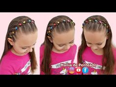 Rubber Band Hairstyles, Hair Rubber Bands, Headband Hairstyles, Cute Hairstyles, Easy Toddler Hairstyles, Easy Little Girl Hairstyles, Pixie Cut Styles, Girl Hair Dos, Hair Upstyles