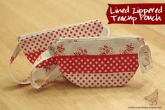 Chicken Soup Designs: Zippered Teacup Pouch Tutorial and Free Pattern