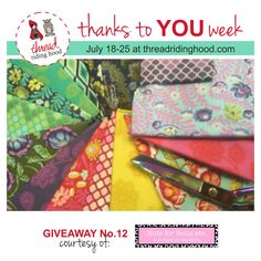 Thanks to YOU Week Giveaway No.12 is from @nutsforboltsetc - Visit www.threadridinghood.com to enter for your chance to win!