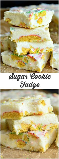 Sugar Cookie Fudge! This fabulous holiday fudge will be a treat for anyone and quite simple to make.
