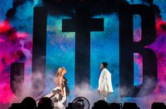 Beyonce and Jay Z during On The Run Tour