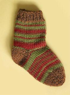 Knit Childs Striped Socks Pattern (Knit)