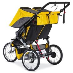 Amazon.com : BOB 2016 Ironman Duallie Jogging Stroller, Yellow : Baby Baby Doll Strollers, Best Baby Strollers, Double Strollers, Umbrella Stroller, Pram Stroller, Twin Pram, Best Prams, Best Lightweight Stroller, Baby Jogger City Select