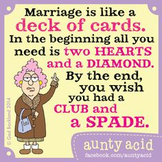 Aunty Acid on Marriage Aunty Acid knows a thing or two about marriage. - acid,You can find Aunty acid and more on our website.Aunty Acid on Marriage Aun. Funny Signs, Funny Jokes, Funny Sarcasm, Funny Minion, Hilarious Sayings, Cartoon Jokes, 9gag Funny, It's Funny, Funny Texts