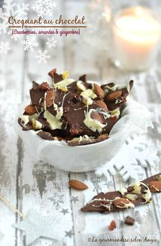 croquant facon mendiant 1 Chocolate Truffles, Chocolate Recipes, Healthy Candy, Christmas Mood, Xmas, Pasta, Biscuits, Vegan, Veggies