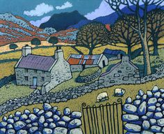 Chris Neale, Welsh artist  Could be a Shetland scene, not the mountains though!!