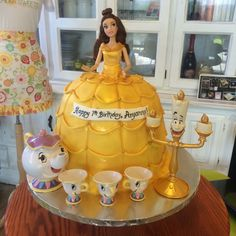 Beauty and the Beast Belle Birthday Cake #peridotsweets