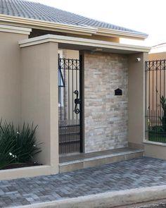 Home Interior Green .Home Interior Green House Gate Design, Door Gate Design, Bungalow House Design, House Front Design, Fence Design, Modern House Design, Modern Entrance, House Entrance, Stone Wall Design