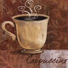 Cappuccino - for my kitchen wall