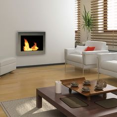 Anywhere Fireplace SoHo Indoor Fireplace - Stainless | WoodlandDirect.com: Indoor Fireplaces: Gel & Ethanol