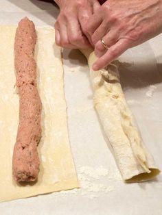 Easy Peasy British Sausage Rolls - The Pudge Factor Sausage Rolls Puff Pastry, Puff Pastry Recipes, Scottish Recipes, Irish Recipes, British Food Recipes, English Recipes, British Meals, Ma Baker, Hp Sauce