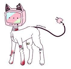 TV Head Arte Do Kawaii, Kawaii Art, Cute Art Styles, Cartoon Art Styles, Object Heads, Tv Head, Character Drawing, Character Design Inspiration, Animes Wallpapers