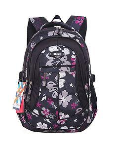 42fc7fdbf4f7 JiaYou Girl Flower Printed Primary Junior High University School Bag  Bookbag Backpack  flower