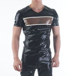 Transparent Chest Latex Shirt by SQUEEZE.DOG