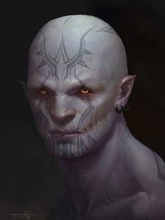 The dark elf, Tooth Wu on ArtStation at https://www.artstation.com/artwork/the-dark-elf