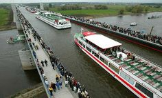 Magdeburg Water Bridge (pont-canal), Germany