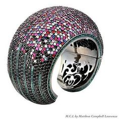 """Matthew Campbell Laurenza """"Art Deco Collection"""" Bangle, inspired by the Skyline of Manhattan"""